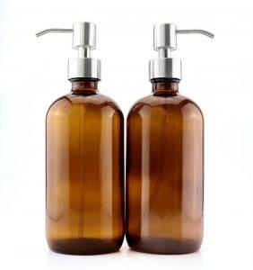 glass soap jar