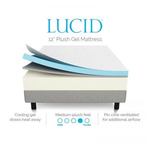 LUCID 12 Inch Gel Memory Foam Mattress-2
