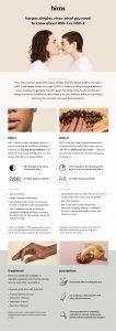 Herpes Simplex Virus infographic