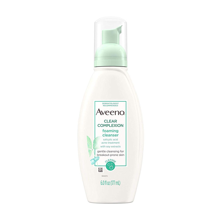 Aveeno Clear Complexion Foaming Oil-Free Facial Cleanser with Salicylic Acid