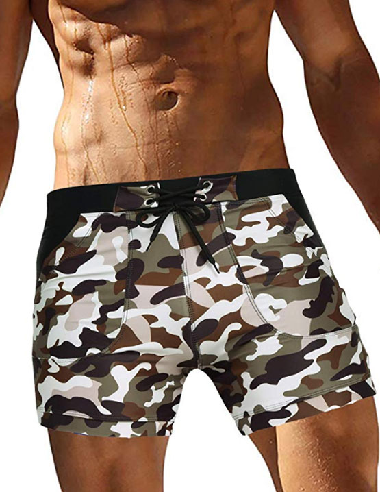 OOFANDY Men's Swimsuit Camo Quick Dry Mens Swimming Shorts