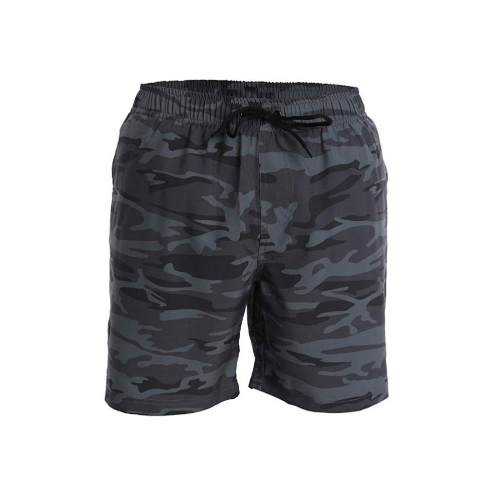 Fort Isle Men's Swim Trunks and Workout Shorts - Camouflage