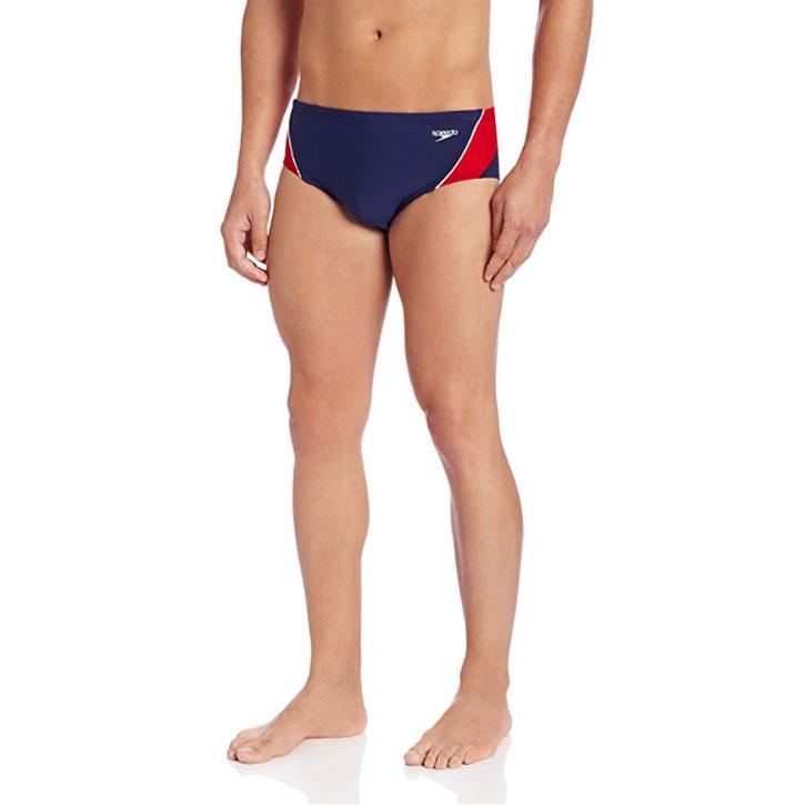 Speedo Men's Endurance+ Launch Splice Brief Swimsuit