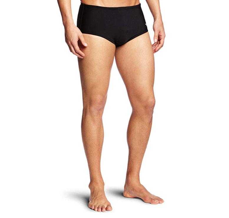 Speedo Men's Xtra Life Lycra Solid 5 Inch Brief Swimsuit