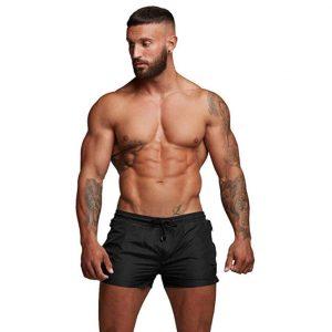 TONLEN Mens Swimwear Sports Shorts