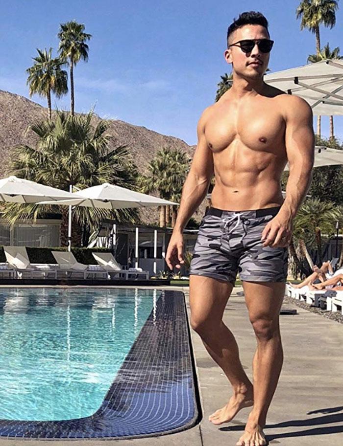 Taddlee Swimwear Men Basic Long Swimming Trunk
