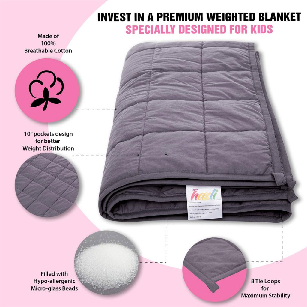 Super Soft 5 Lbs Calming Weighted Blanket for Kids