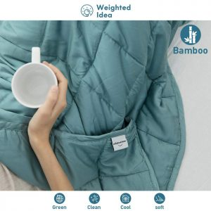 Weighted Idea Bamboo Cooling Weighted Blanket