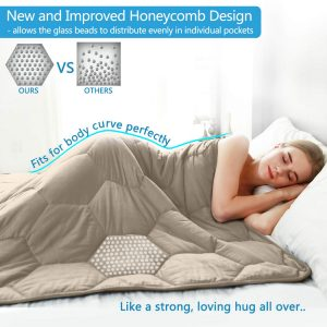 YEMYHOM 100% Cotton Weighted Blanket Adult