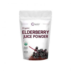 Microingredients Certified Organic Elderberry Juice Powder, 4 Ounces