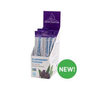 New Chapter Elderberry Powder On The Go Sticks, 15 Servings