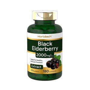 Horbaach Black Elderberry Capsules 2000mg