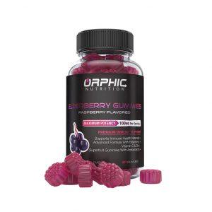 Orphic Nutrition Natural Elderberry & Vitamin C Gummies, 100 mg