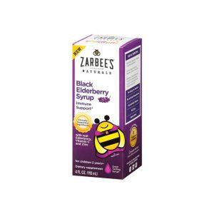 Zarbee's Naturals Children's Black Elderberry Syrup for Immune Support