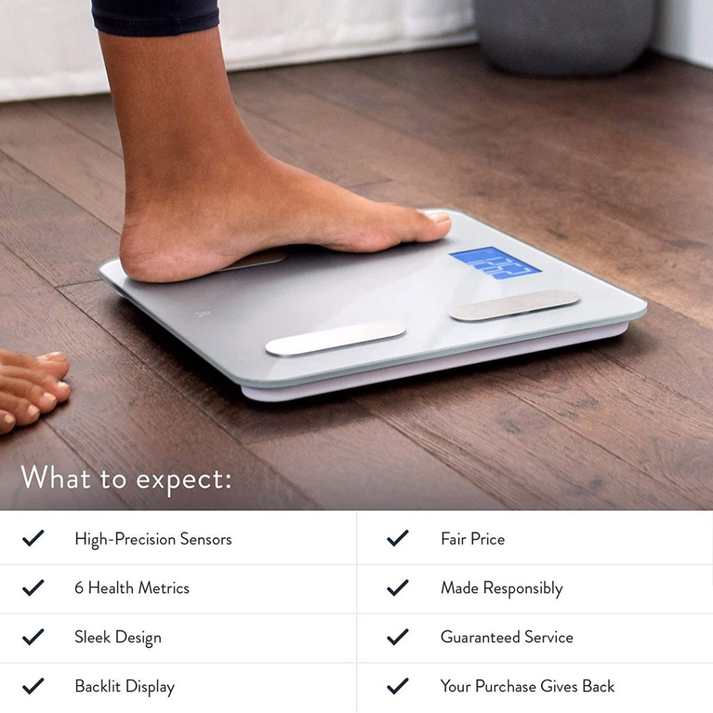 GreaterGoods Digital Body Fat Weight Scale