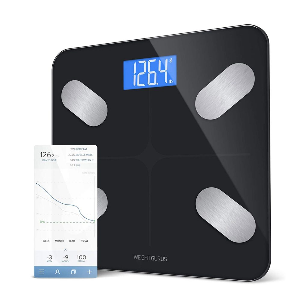 GreaterGoods Bluetooth Connected Body Weight Bathroom Scale