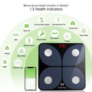 Healthkeep Wireless BMI Body Composition Monitor Health Analyzer