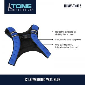 Tone Fitness Weighted Vest, 12 lbs