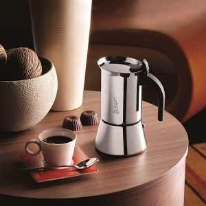 Bialetti 10-Cup Stainless Steel Moka Pot Espresso Maker