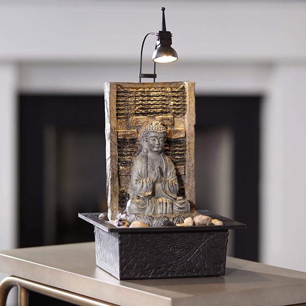 Namaste Zen Buddha Tabletop Water Fountain