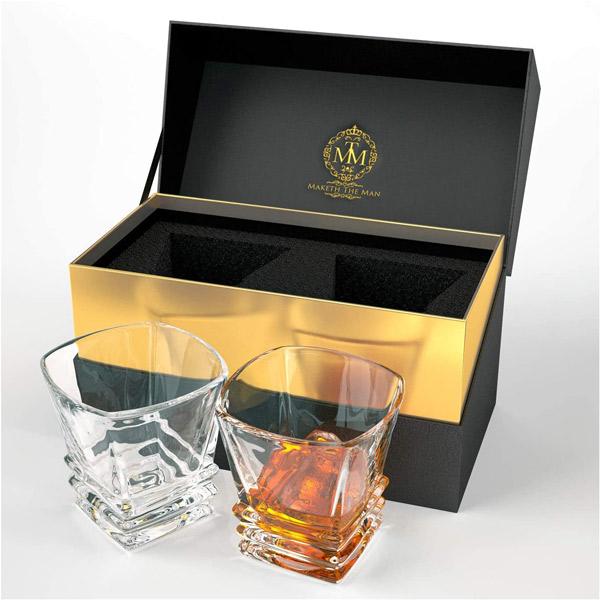 Premium Art Deco Whiskey Glass Set